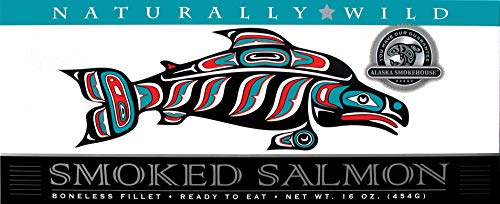 Alaska Smokehouse Naturally Wild Smoked Salmon in Gift Box, 16-Ounce Boxes (Pack of 2)