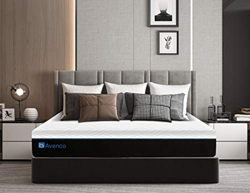 Avenco Full Size Mattress, 12 Inch Full Memory Foam Mattress in a Box, Premium Bed Mattress with CertiPUR-US Foam for Supportive, Pressure Relief & Cooler Sleeping, 10 Years Support