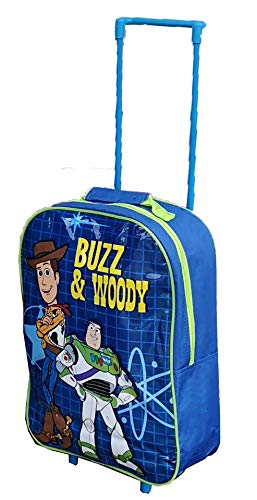 Kids Trolley Cabin Bag Suitcase with Wheels and Telescopic Handle - Ideal for Short Breaks, Holidays, sleepovers and School Trips (Toy Story)