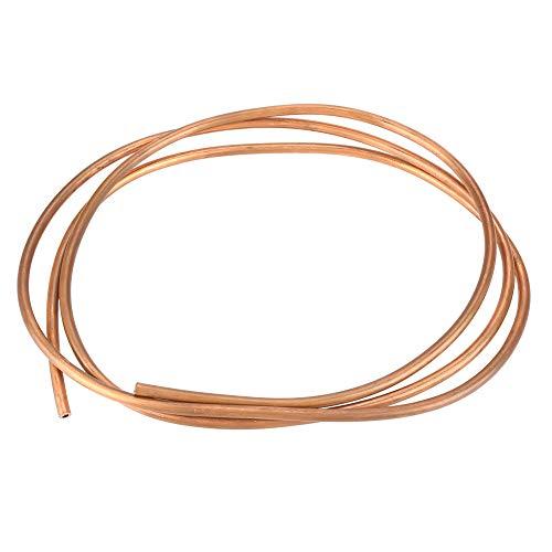 Akozon Tubo de freno de cobreT2, 2M, OD 6 mm x ID 4 mm, para tuberías de refrigeración para generadores, cables