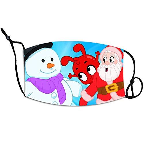 N / A Süße Weihnachtsmasken für Menschen mit Schnee, hängenden Ohren, einstellbarem PM2.5Staubschutz, Antibeschlag, waschbar und wiederverwendbar, Weihnachtsmasken