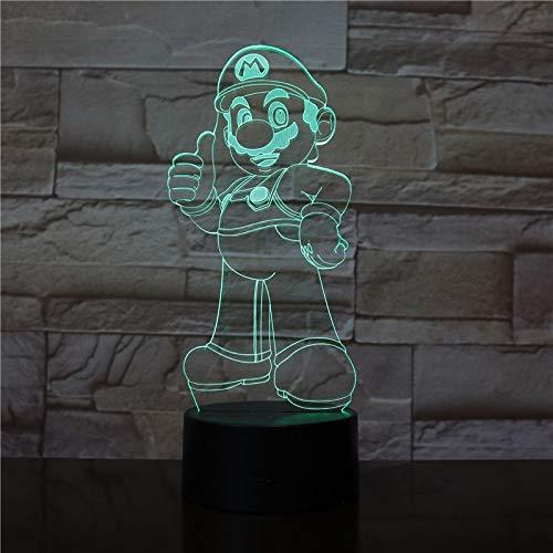 Solo 1 pieza Color de la lámpara 3d Lámparas de noche LED para niños Touch Led Usb Lámpara de mesa Lampe Baby Sleeping Nightlight Room Lamp