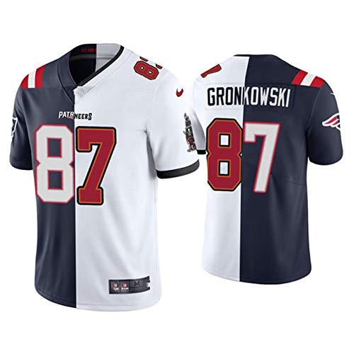 Yongge T-Shirts Jersey Rugby NFL Hommes Vêtements de Sport de Football américain Maillot Football # 87 Gronkowski...