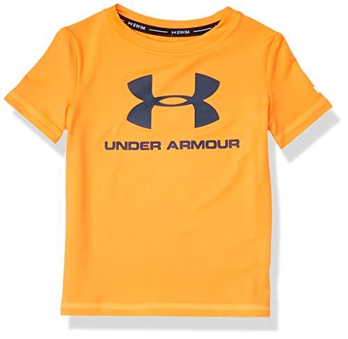 Under Armour UA Big Logo Surf Shirt Camisa de protección de Sarpullido, Naranja Spark Sp20, 2 años para Niños