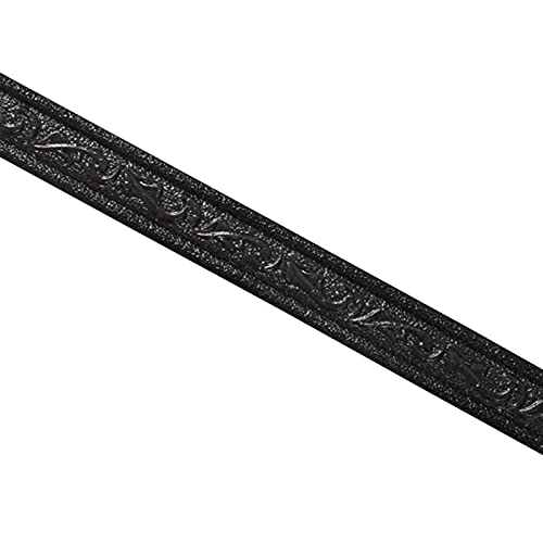 Tapetenbordüre Selbstklebend wasserdichte, Wandbordüre 3D-Muster Tapete Bordüre Aufkleber Wanddekoration Für Küche Badezimmer - Weiß Schwarz Grau 2.3m