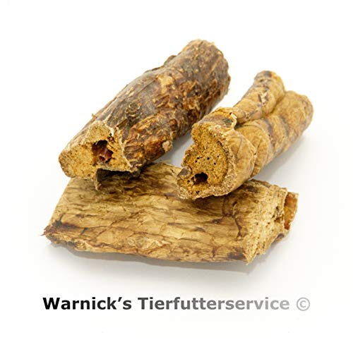 Warnicks Tierfutterservice 4 KG Rinderlunge fettarm große Stücke 4 x im 1000 gr. Beutel