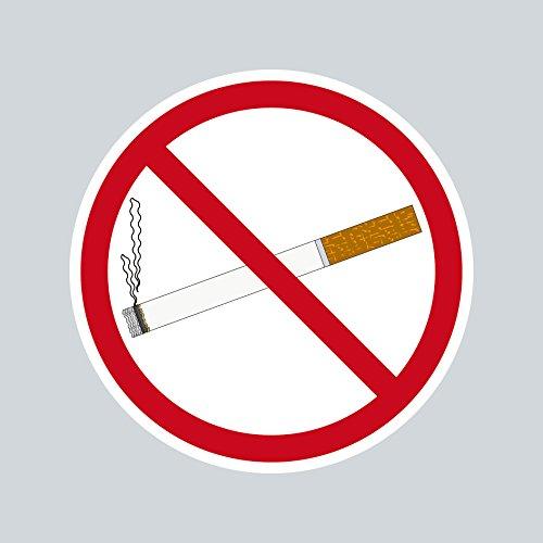 Aufkleber Sticker 5cm ORACAL Rauchverbot Rauchen Verboten Nichtraucher Symbol Zeichen Warnhinweis (1)