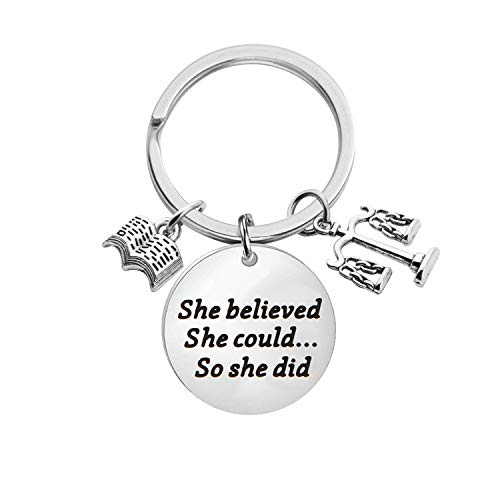 Lawyer Gift Law School Graduation Gift She Believed She Could So She Did Keychain Law Student Gift Future Lawyer Gift (She Believed Lawyer Gift)