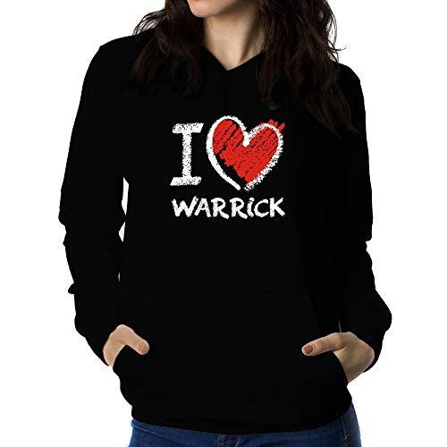 Teeburon I Love Warrick Chalk Style Felpa Donna