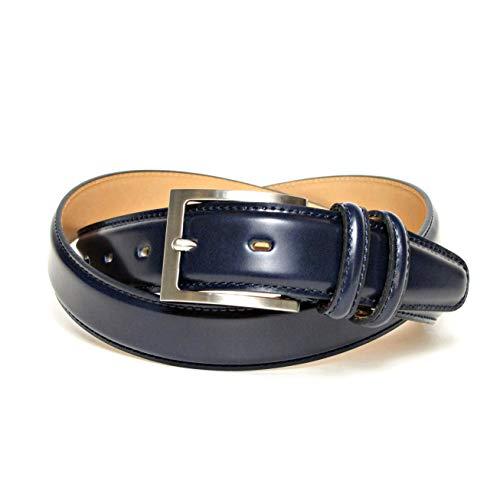 KIETH キース メンズ ビジネス ベルト コードバン調牛革 ネイビー 30mm幅 サイズ調整可能 50有余年の歴史とクラフトマンシップが創り出す確かな品質 MADE IN JAPAN