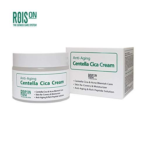ROIS ON K-Beauty Whitening Moisturizer Plant Stemcell Anti Aging Centella Cica Cream 1.76 fl.oz EWG All 1st Ingredients, Best Day & Night cica repair Cream, Plant Stemcell Cream