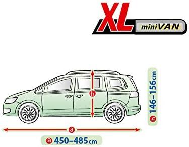 Pkwelt Universal Auto Abdeckung Vollgarage Autoplane L480 Van Größe 470 490 Zentimeter Wetterfest Uv Beständig Auto