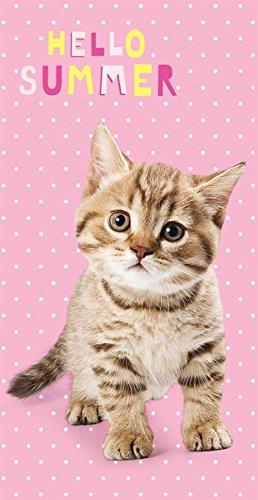 Sweet Animals Hello Summer gatito gato playa toalla 70x 140cm