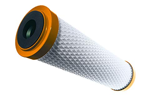 Carbonit Wasserfilter Filterpatrone, Aktivkohle-Monoblock, Ster-O-Tap Kapillarmembran, weiß/orange, 7x7x24.7 cm