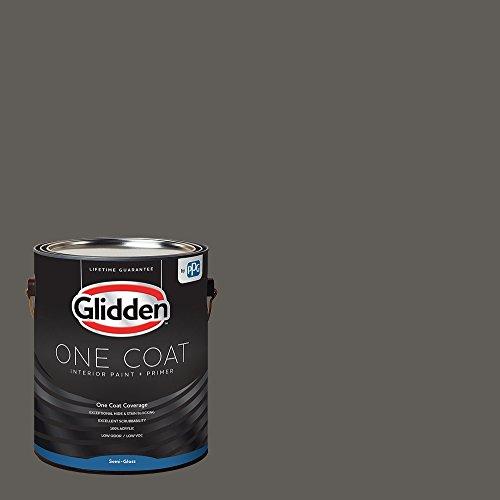 Glidden Interior Paint + Primer: Gray/Stone's Throw, One Coat, Semi-Gloss, 1-Gallon