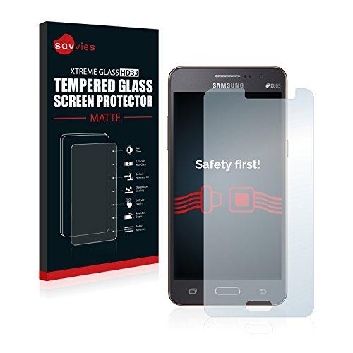 savvies Protector Cristal Mate Compatible con Samsung Galaxy Grand Prime SM-G531F - Dureza 9H, Antireflejos
