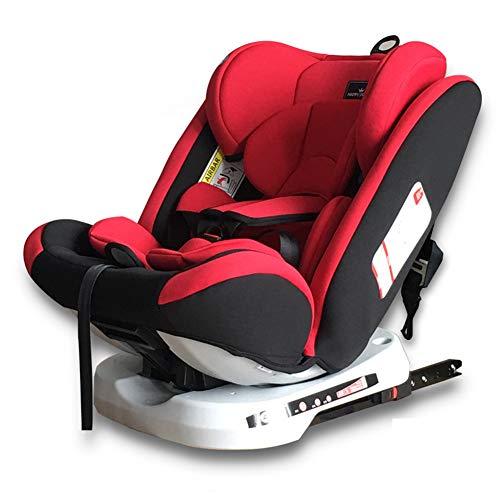 PTHZ El Asiento del automóvil Puede Ajustar el Asiento para niños, y el Asiento para niños del automóvil está Instalado en la dirección Delantera y inversa,Rojo
