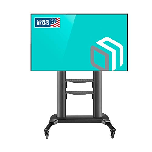 ONKRON Supporto TV a pavimento per LCD LED Plasma 42' - 80 pollici PORTA TV UNIVERSALE CON ROTELLE PIEDISTALLO PER TV FINO 45.5 kg MOBILE STAFFA TV CON VESA max 700 x 400 mm TS2771