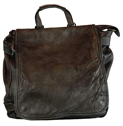 BZNA Bag Anna braun Backpacker Designer Rucksack Ledertasche Damenhandtasche Schultertasche Leder Nappa sheep ItalyNeu