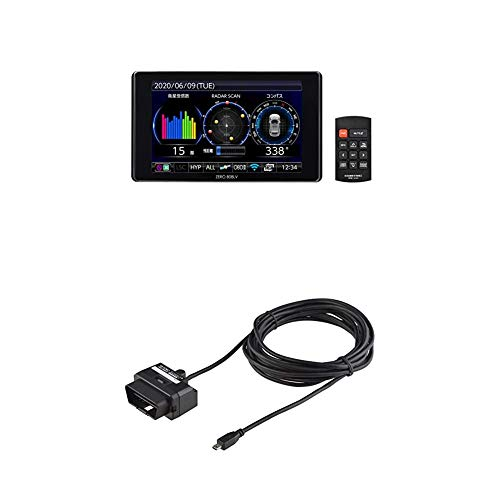 コムテック レーザー受信対応レーダー探知機 ZERO 808LV + OBD2セット