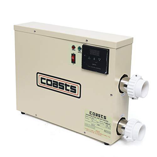 Aohuada Calefacción eléctrica para piscina, 11 kW, para spa, intercambiador de calor eléctrico, 220 V, para jacuzzi y equipo de piscina