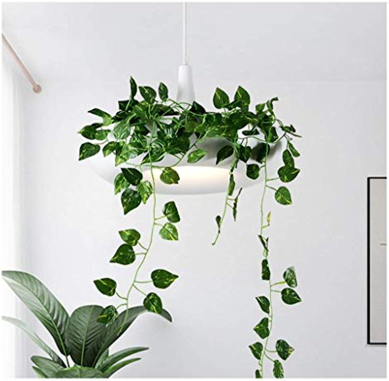 Leohome Deckenbeleuchtung Moderne Pendelleuchte Einfache Restaurant Deckenbeleuchtung Nordic Pastorale Grüne Pflanze Hngen Lampe Blaumentopf Kronleuchter -Innenbeleuchtung