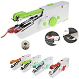 Handheld Sewing Machine Portable Mini Easy Small USB Beginner Sewing Machine Quick Repairing Suitable Sewing Machinefor Denim Curtains Leather or Adults Easy to use (Green)