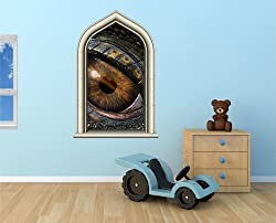 dragon eye window wall decal