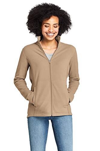 Lands' End Damen Fleece-Jacke 36-38 Beige - Warm Siena