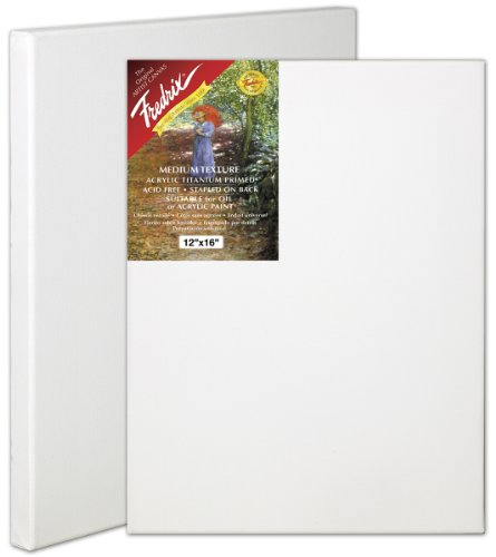 Fredrix 50451 Stretched Canvas, 6 by 6-Inch