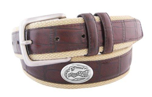 ZEP-PRO NCAA Florida Gators Gürtel aus Kroko-Leder, UFL-BL4C-BUF-40, braun, 102 cm