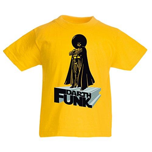 lepni.me T-Shirt pour Enfants I Love Funk (7-8 Years Jaune Multicolore)