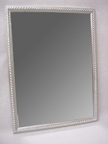 Desconocido Espejo Pared Madera Cordon Mediano Plateado