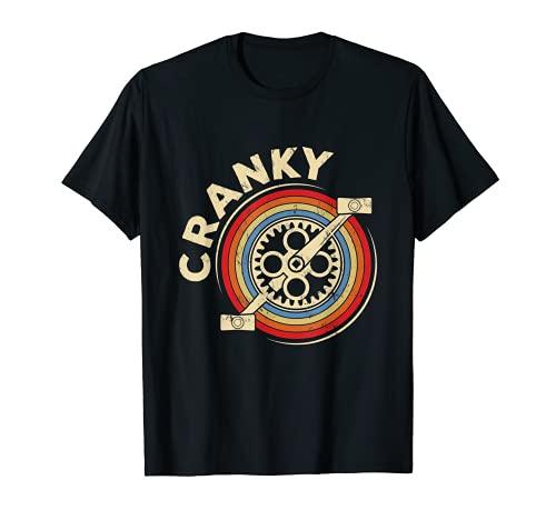 Cranky   pedales de bicicleta suaves y vintage. Camiseta