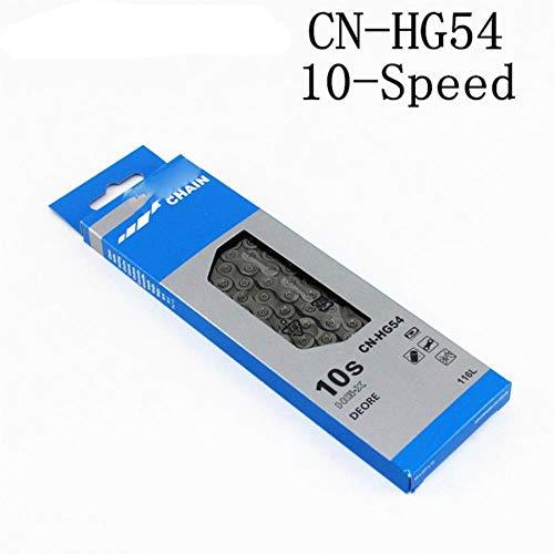 M6000 M610 HG54 Cadena 10 velocidades para Bicicleta Cadena CN-HG54 MTB Cadenas Road, HG54 116L Box