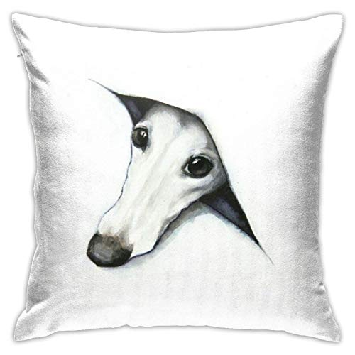JONINOT Whippet Throw Home Bedroom Living Room Cushion Cover Pillow Case Home Decor Square 18'x 18' Pillowcase