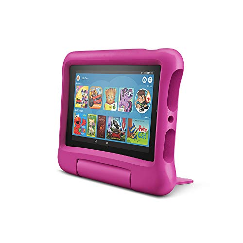 """Fire 7 Kids Tablet, 7"""" Display, ages 3-7, 16 GB, Pink Kid-Proof Case"""