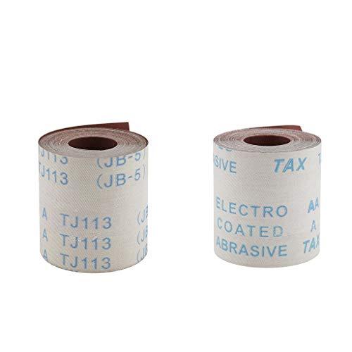 2 Stück 10 Meter Schleifpapier Rollenpapier Rolle 320/600 Körnung Handschleifpapier