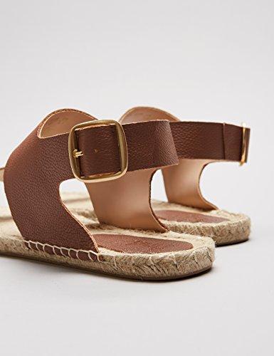 FIND Damen Sandalen mit Espadrilles-Sohle, Braun - 5