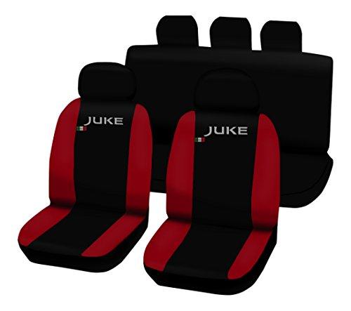 Lupex Shop Juke_N.R - Fundas para Asientos Bicolor, Negro/