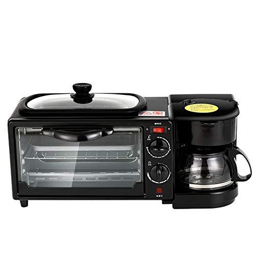 tostapane 5 in 1 TQMB 4 in 1 Tostapane Multifunzione Padella Macchina per caffè La Colazion Panini Maker/Griglia Griglia Elettrica Acciaio Inox Automatica per Vapore/Bollire/Omelette/Uova
