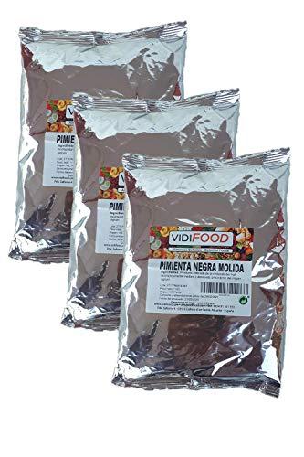 Gemahlener Schwarzer Pfeffer - 3kg - Aromatischer Pfeffer - Würze Für Keto- Und Vegane Gerichte - Glutenfrei
