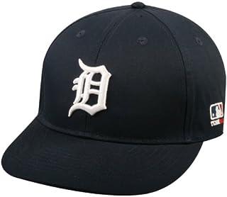 """Adult FLAT BRIM Detroit Tigers Home Navy Wht""""D"""" Hat Cap MLB Adjustable"""