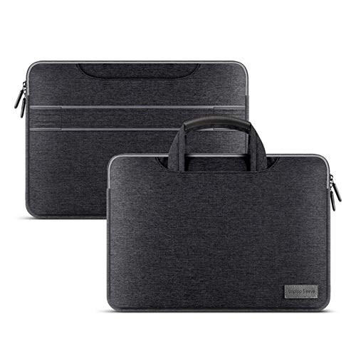 YNLRY Laptop Bag Sleeve Case For Macbook Air Pro 12 13 13.3 14 15.4 15.6 Inch Waterproof Notebook Handbag Case For Lenovo Dell HP ASUS (Color : Black, Size : 13 14 inch)