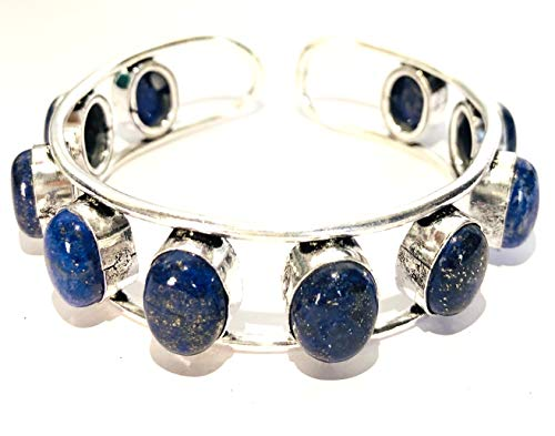 Crystalmiracle Lapis Lazuli Metalen Armband Kristal Mode Sieraden Edelsteen Gift Wellness Chakra Energie Vrede Meditatie Handgemaakte Accessoire