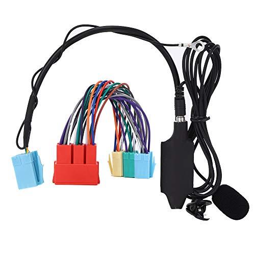 Adaptador de Audio Bluetooth para Coche, Adaptador de Cable Auxiliar con Altavoz,...