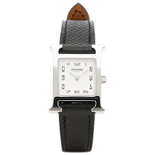 [エルメス]腕時計 HERMES HH1.110.131/UNO W037877WW00 Hウォッチ ミニ ブラック レディース ホワイト シルバー [並行輸入品]