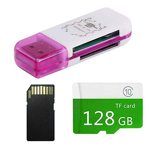 with Card Reader Micro-SD SD TF Memory Card Class 10 Quality Large Capacity,Green,128G