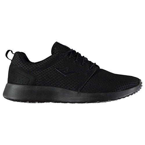 Everlast Herren Sensei Run Turnschuhe Sneaker Training Schuhe Sportschuhe Schwarz/Schwarz 43 1/3 EU
