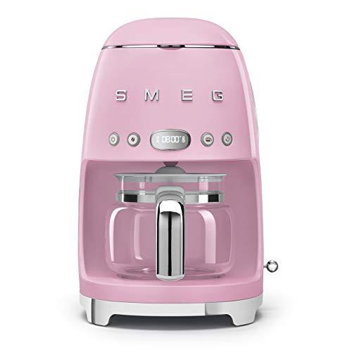 Smeg 50's Retro Style Aesthetic Drip Filter Coffee Machine, Pink